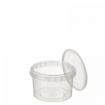 280ml Tamper Evident Clear Cont & Lid set [28093]